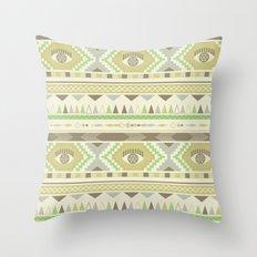 Aztec Eye Throw Pillow