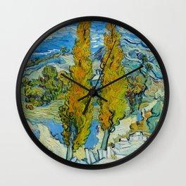 Vincent Van Gogh - The Poplars at Saint-Rémy Wall Clock