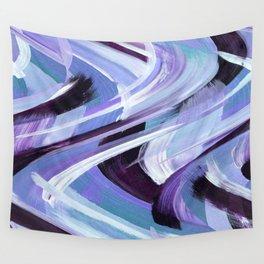 Wavy Blue Wall Tapestry