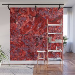 Marble Ruby Sapphire Violet Wall Mural