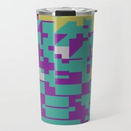 Abstract 8 Bit Art Travel Mug