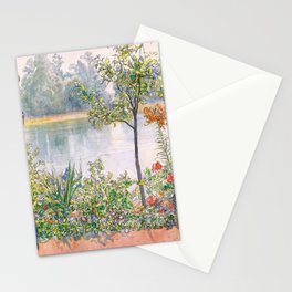 Karin By The Shore - Carl Larsson Stationery Cards