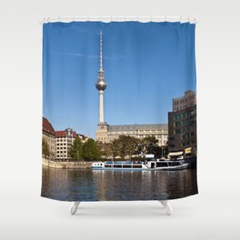 Autumnal Feeling at the River Spree in Berlin Shower Curtain