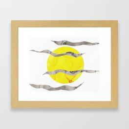 Howl At the Moon, Full Moon Ink Framed Art Print