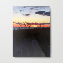 East Coast Ocean Sunset Metal Print
