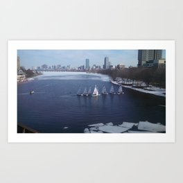 Boating on the Charles River Art Print