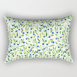 Blueberry Fields Rectangular Pillow