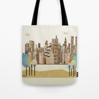 montreal Tote Bags featuring montreal by bri.buckley