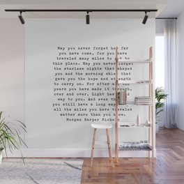 Typewriter Style Quote ((Morgan Harper Nichols)) Wall Mural