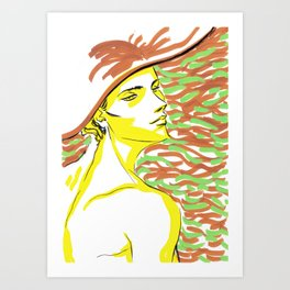 summer girl 1 Art Print