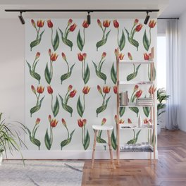 Spring's fragrances. Tulips. Wall Mural