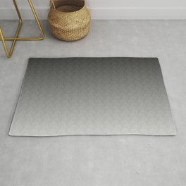 Black Gray White Ombre Gradient Scales Rug