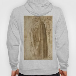 Michelangelo - Three Standing Men in Wide Cloaks Turned to the Left (recto) (1496) Hoody