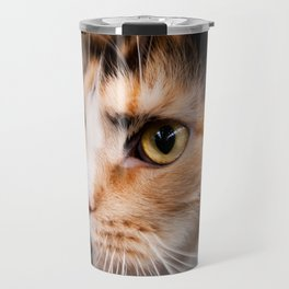 Red hair cat head portrait Travel Mug