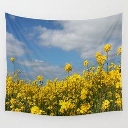 Rape yellow flowers Wall Tapestry