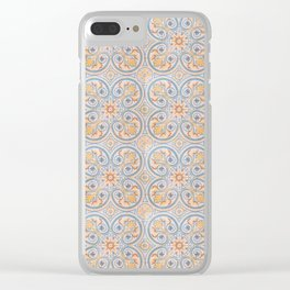 Tile Pattern Mexico II Clear iPhone Case