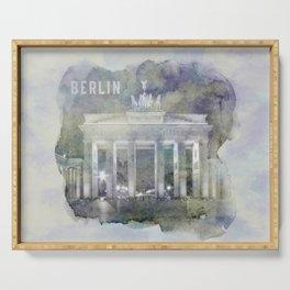 BERLIN Brandenburg Gate | watercolor Serving Tray