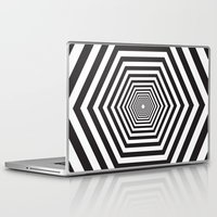hexagon Laptop & iPad Skins featuring Hexagon by Vadeco