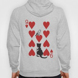 Clipped Wings Deck: The 9 of Hearts Hoody