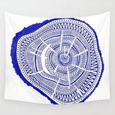 Ponderosa Pine – Navy Palette Wall Tapestry