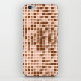 Micro squares pattern iPhone Skin