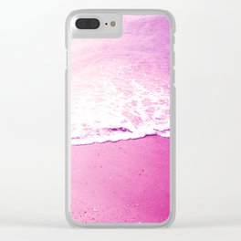 On the foam of the sea Clear iPhone Case