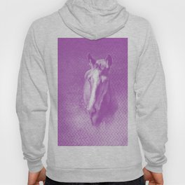 Horse emerging from the purple mist Hoody
