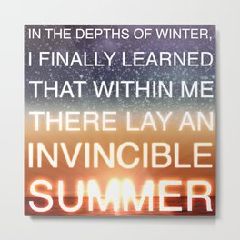 Invincible Summer Metal Print