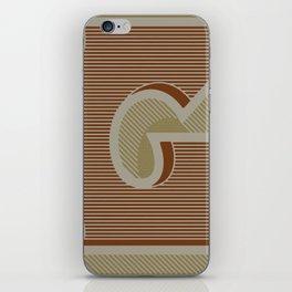 BOLD 'G' DROPCAP iPhone Skin