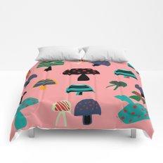 Cute Mushroom Pink Comforters