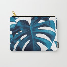 Tropical Monstera Leaves Dream #8 #tropical #decor #art #society6 Carry-All Pouch
