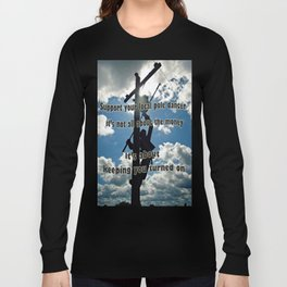 Support your Lineman Long Sleeve T-shirt