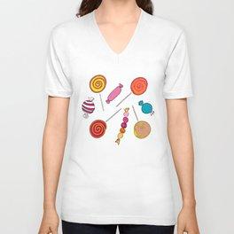 Lollipops & Candies Unisex V-Neck