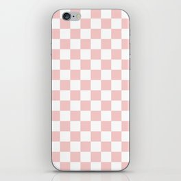 Gingham Pink Blush Rose Quartz Checked Pattern iPhone Skin