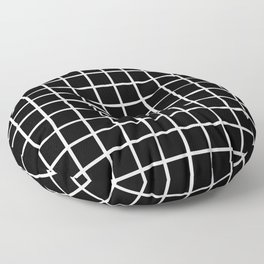 Back to School - Simple Grid Pattern - Black & White - Mix & Match  with Simplicity of Life Floor Pillow