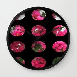 Crape Myrtle Art Circles 2 Wall Clock