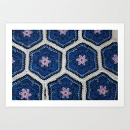 African Flower Crochet Art Print