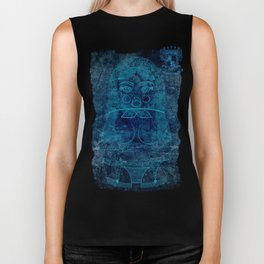 Blueprint X (background) Matryoshka / Nesting Doll Biker Tank
