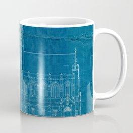 Church Elevation Blueprint Coffee Mug