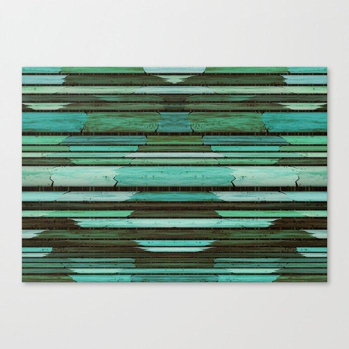 Green Slats Canvas Print