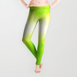 Neon Lemon Lime Abstract Leggings