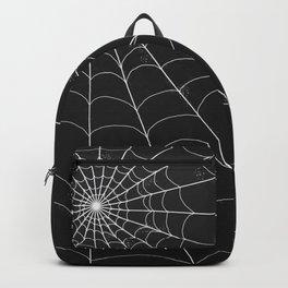 Spiderweb on Black Backpack