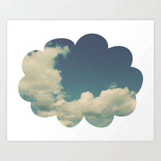Puffy Cloud Art Print