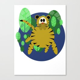 Tiger Goes Round Canvas Print