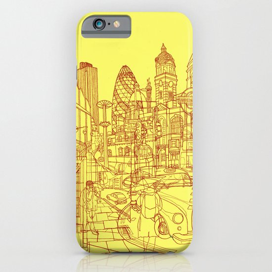 London! Yellow/Red iPhone & iPod Case