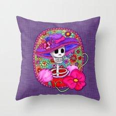 Catrina Doña Beatriz Throw Pillow