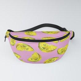 Lemon Slices Pattern Pink Fanny Pack