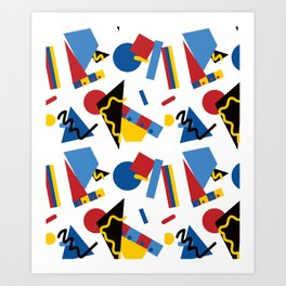 Postmodern Primary Color Party Decorations Art Print