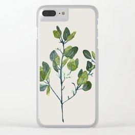 Eucalyptus Branch Clear iPhone Case
