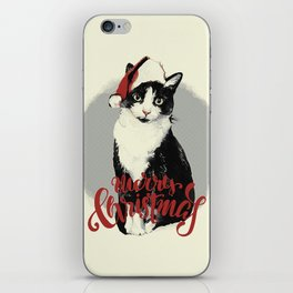 Vintage Christmas (Cat Edition) iPhone Skin